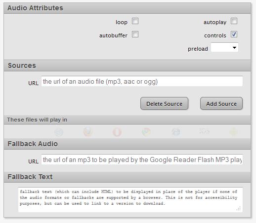 odtwarzacz audio html5