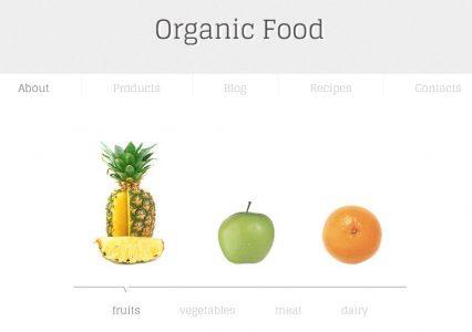 Organic Food – piękny, darmowy szablon WWW