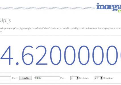 countUp.JS – skrypt który dynamicznie zaprezentuje wybraną wartość