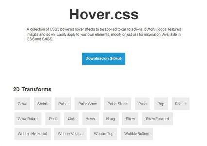 Hover.css – czyli cała masa efektów dla linków w jednym miejscu