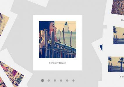 Skrypt galerii zdjęć stylizowanych na te z aparatów Polaroid