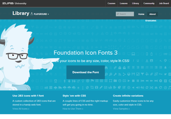 Foundation Icon Fonts 3   Playground from ZURB
