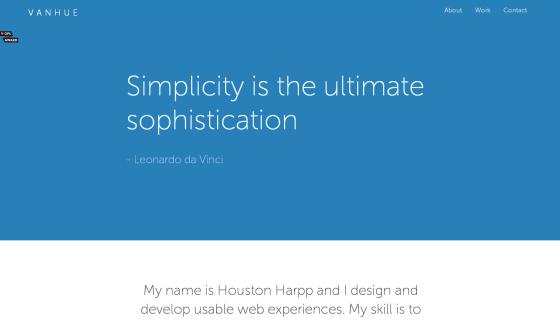 Portfolio of Houston Harpp Vanhue UX UI Designer