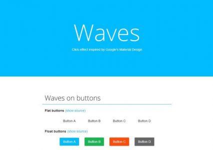 Darmowe buttony w stylu Google Material Design
