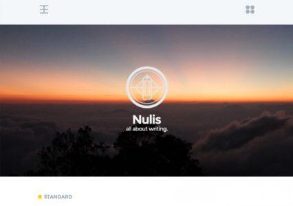Nulis – darmowy szablon WordPress dla fanów absolutnego minimalizmu