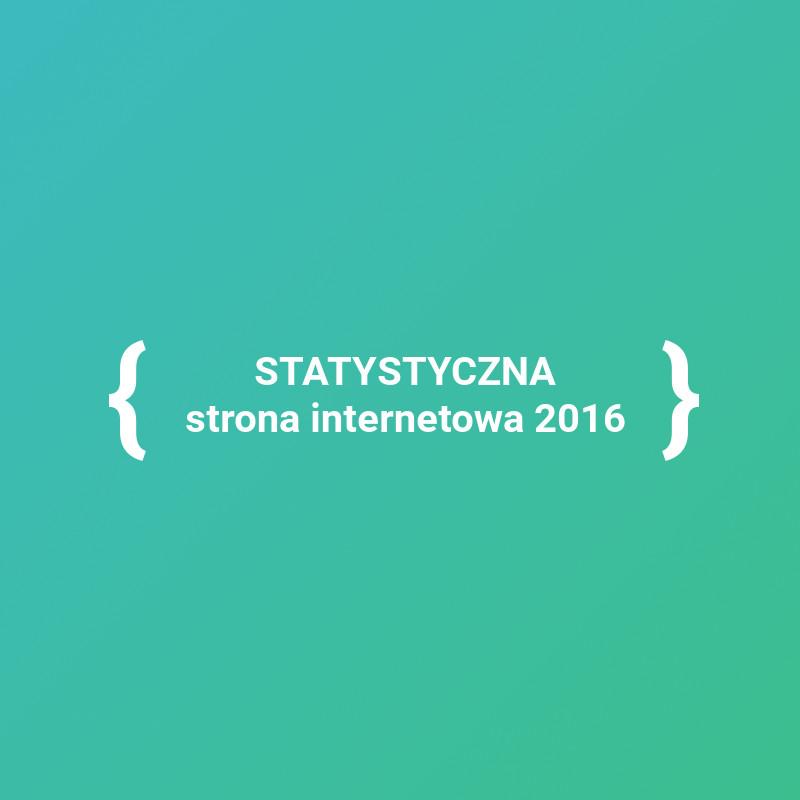 Wiemy jak wygląda statystyczna strona internetowa w 2016 roku!