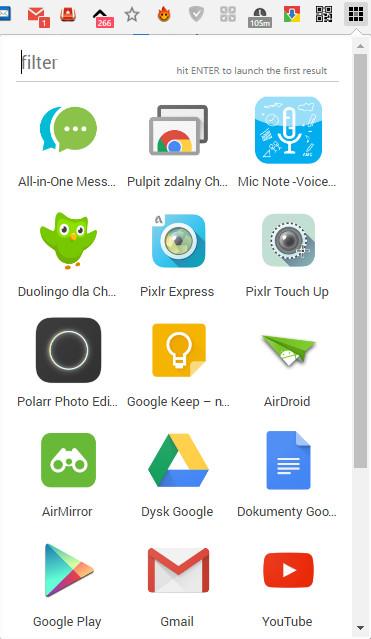 gdzie są aplikacje w google chrome
