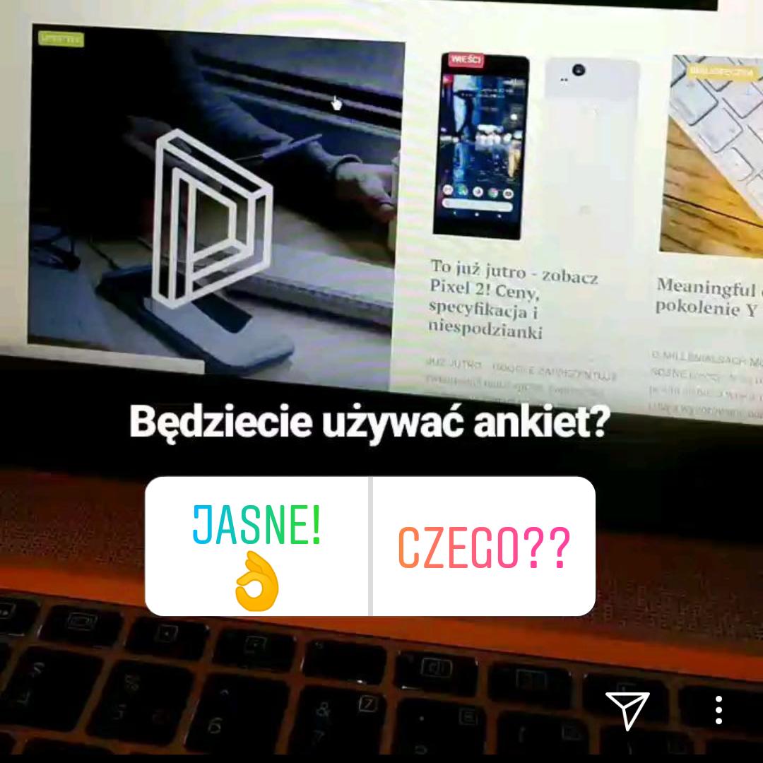 Nowość! Ankiety na Instagramie