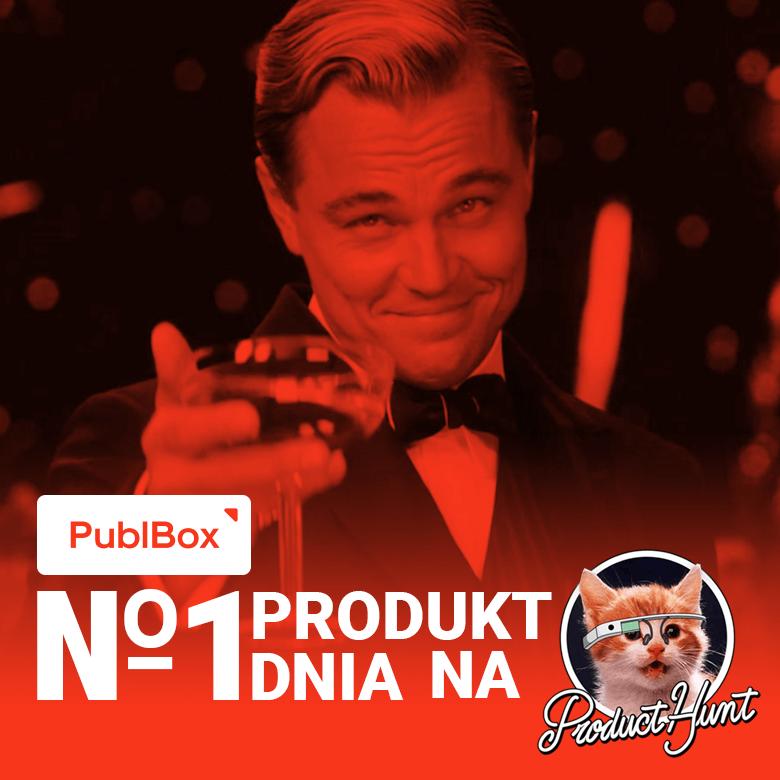 PublBox Produktem Dnia №1 na Product Hunt