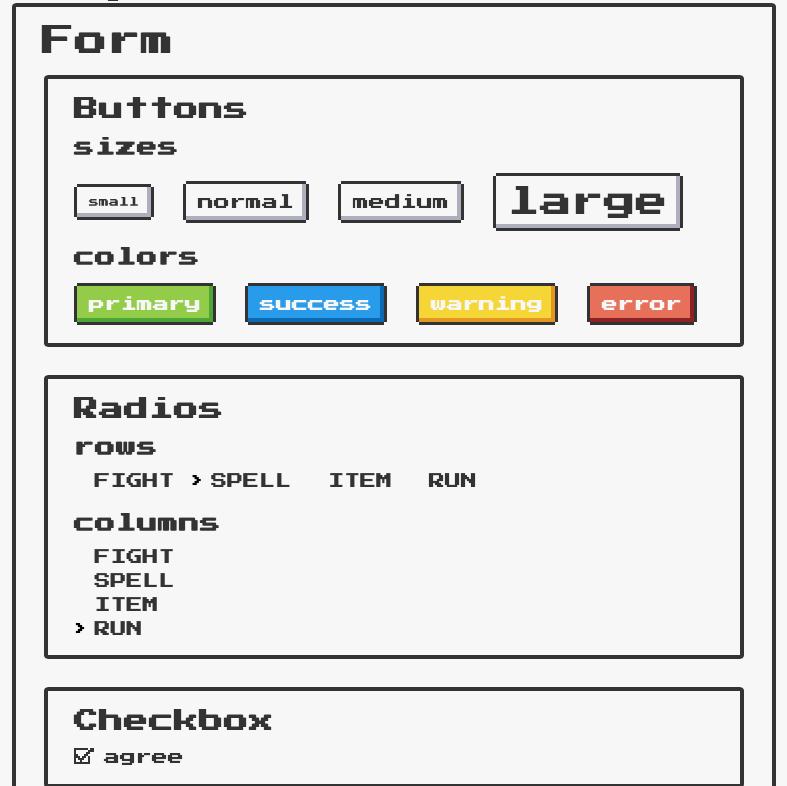NES.css – biblioteka CSS stylizująca na Nintendo NES