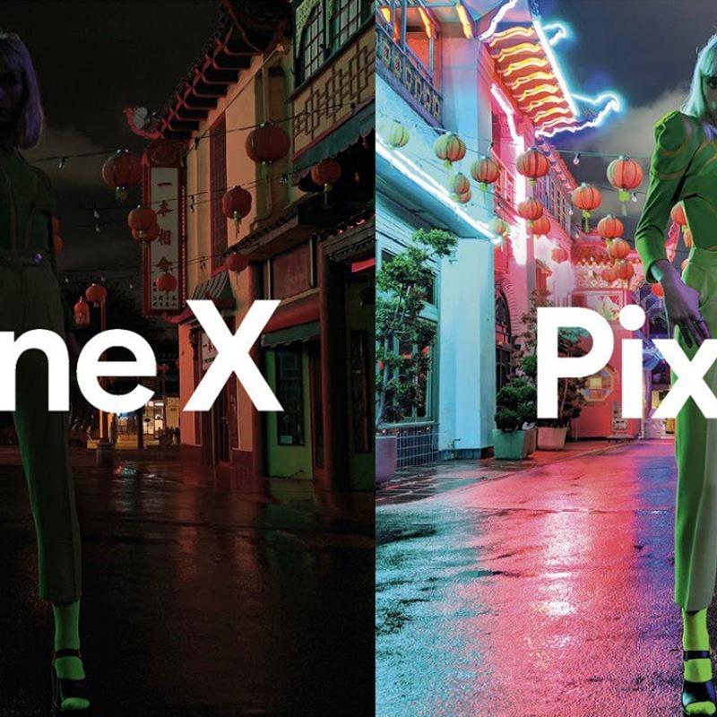 Google pokazuje w reklamie jak Pixel 3 zjada iPhone XS