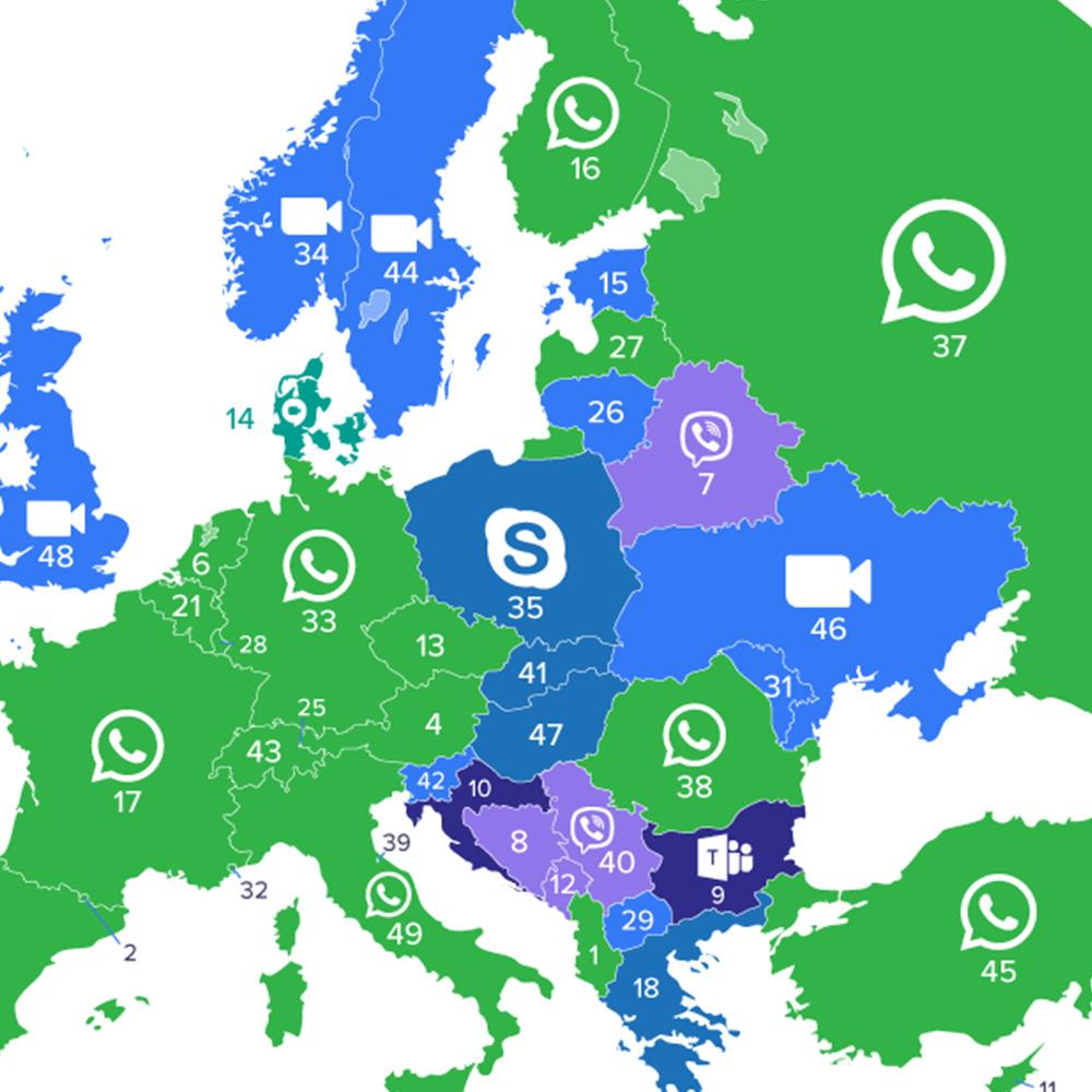 Zainteresowanie komunikatorami wideo wzrosło o 602%. Król Polski to Skype