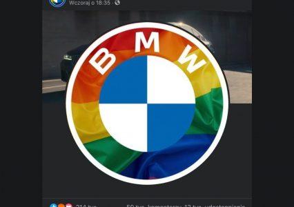 Tęcza w zdjęciu profilowym BMW wywołała burzę