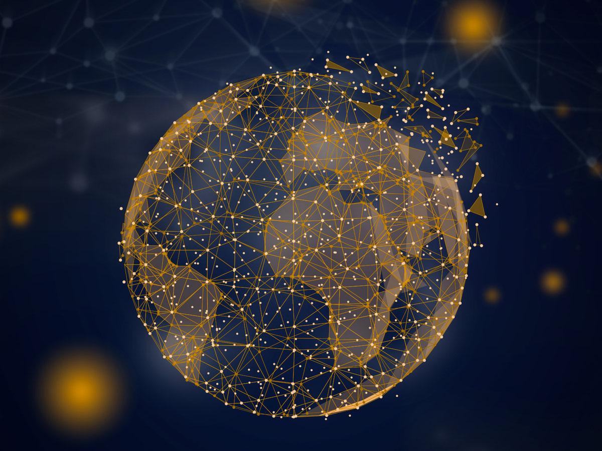blockchain globe