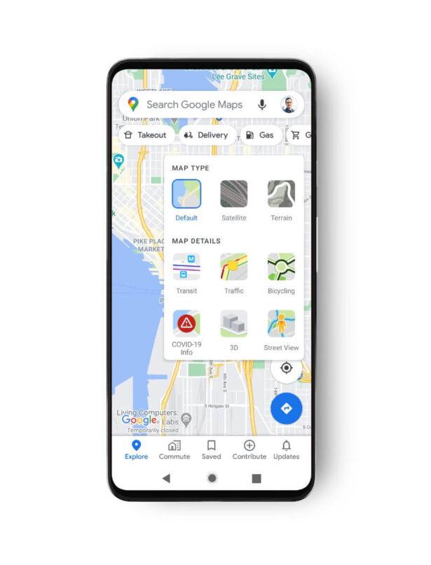 google maps covid 3