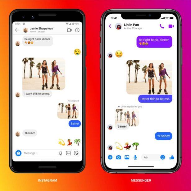 Funkcje z Messengera na Instagramie