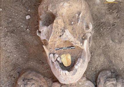 Archeologiczne odkrycia i złoty język w jednej z czaszek