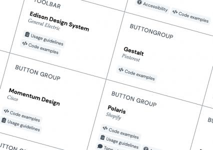Pracujesz nad Design Systemem? Ta strona może Ci się przydać. Zbiór komponentów oraz definicji – component gallery