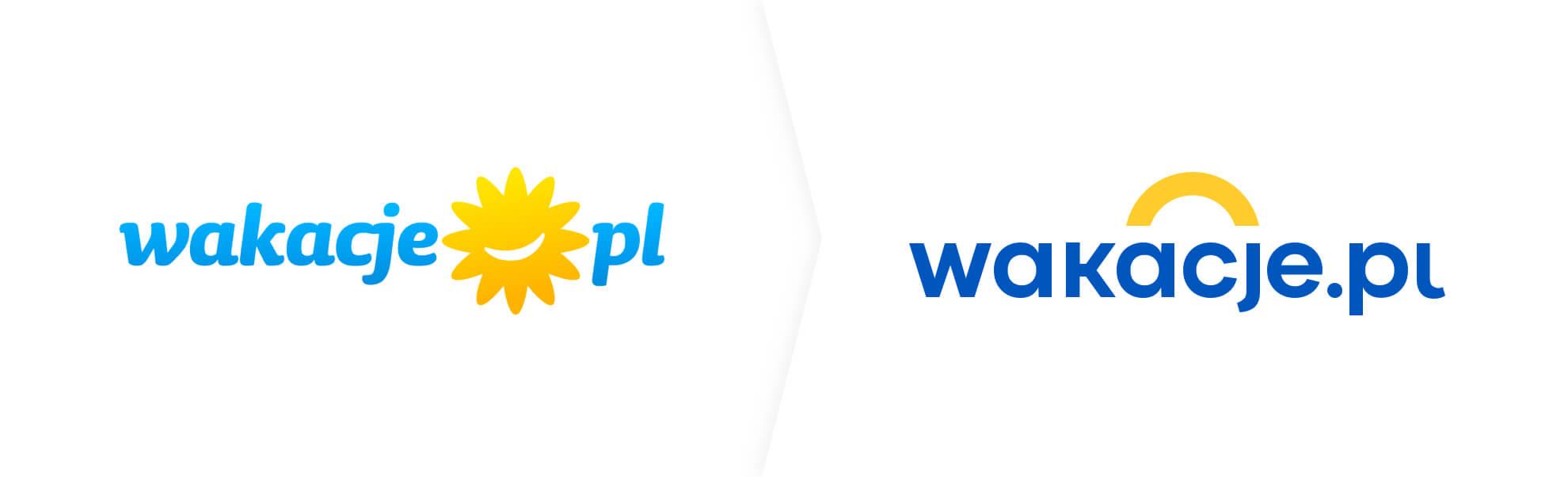 Stare i nowe logo Wakacje.pl