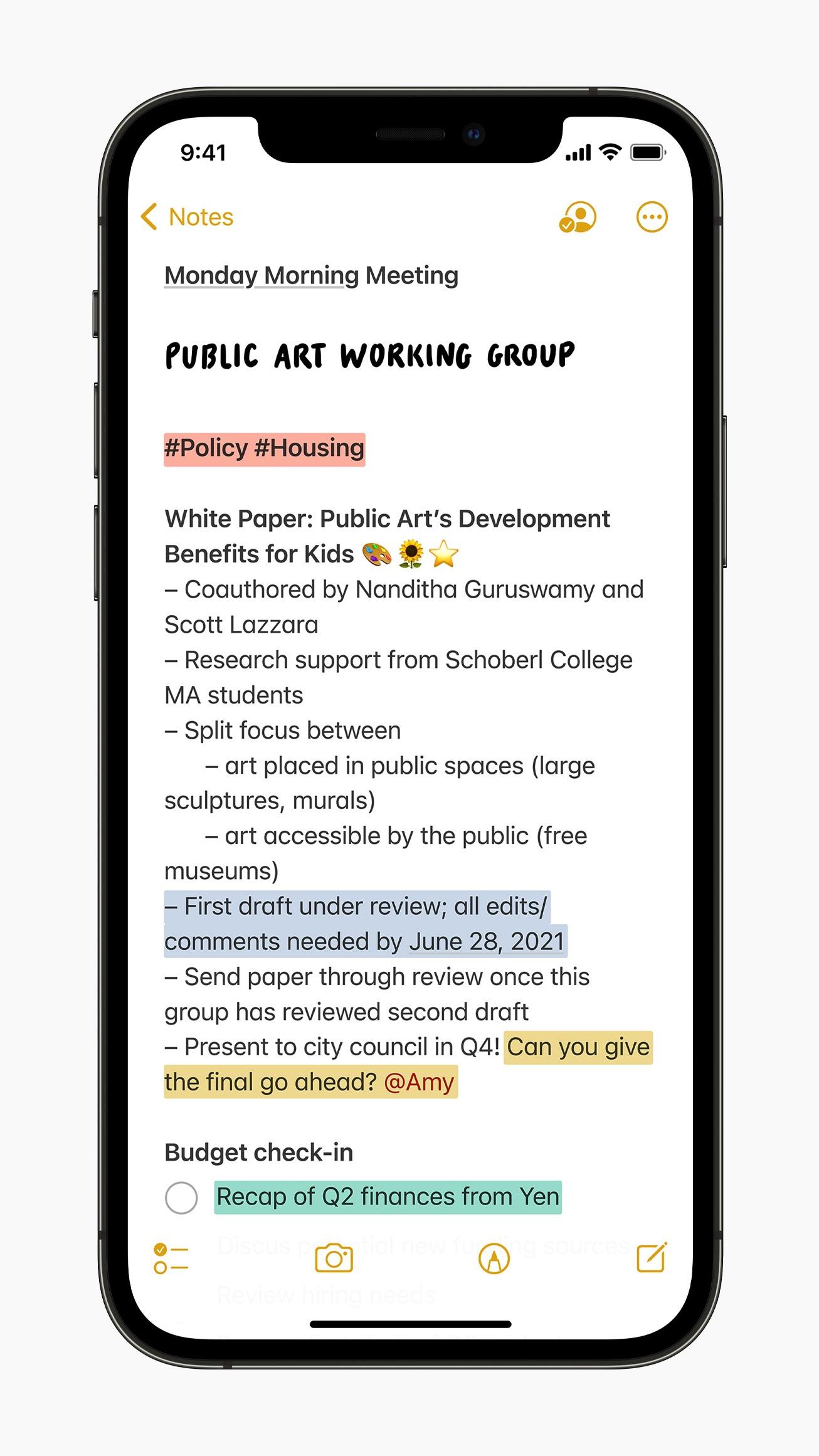 notatki iOS 15