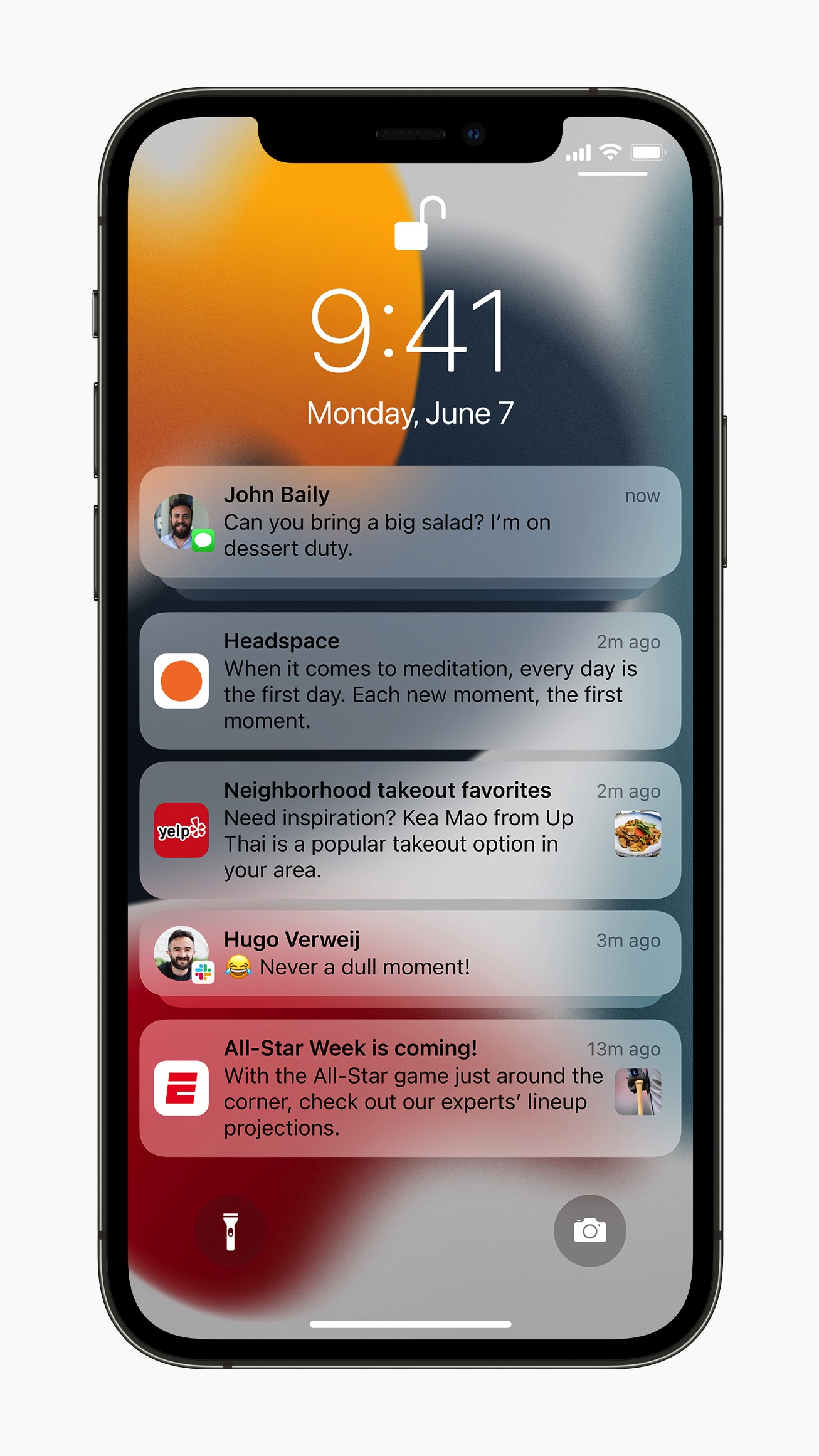 powiadomienia iOS 15