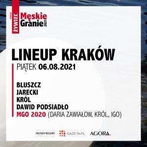 Meskie Granie 2021 lineup krakow piatek