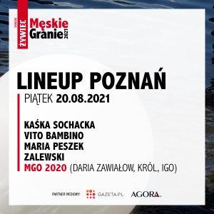 Meskie Granie 2021 lineup poznan piatek