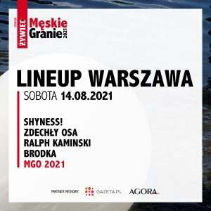 Meskie Granie 2021 lineup warszawa sobota