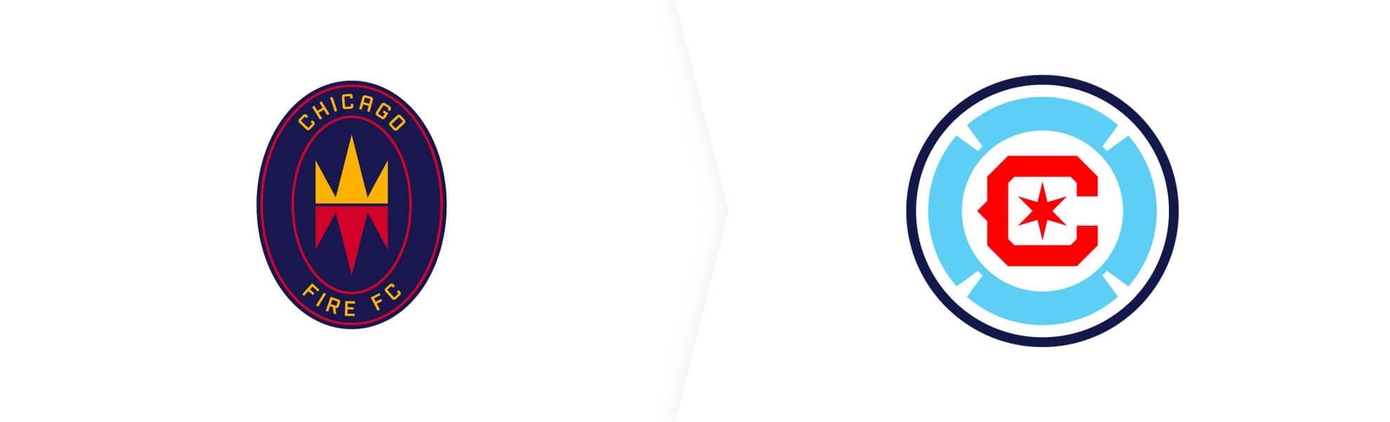 stare i nowe logo chicago fire