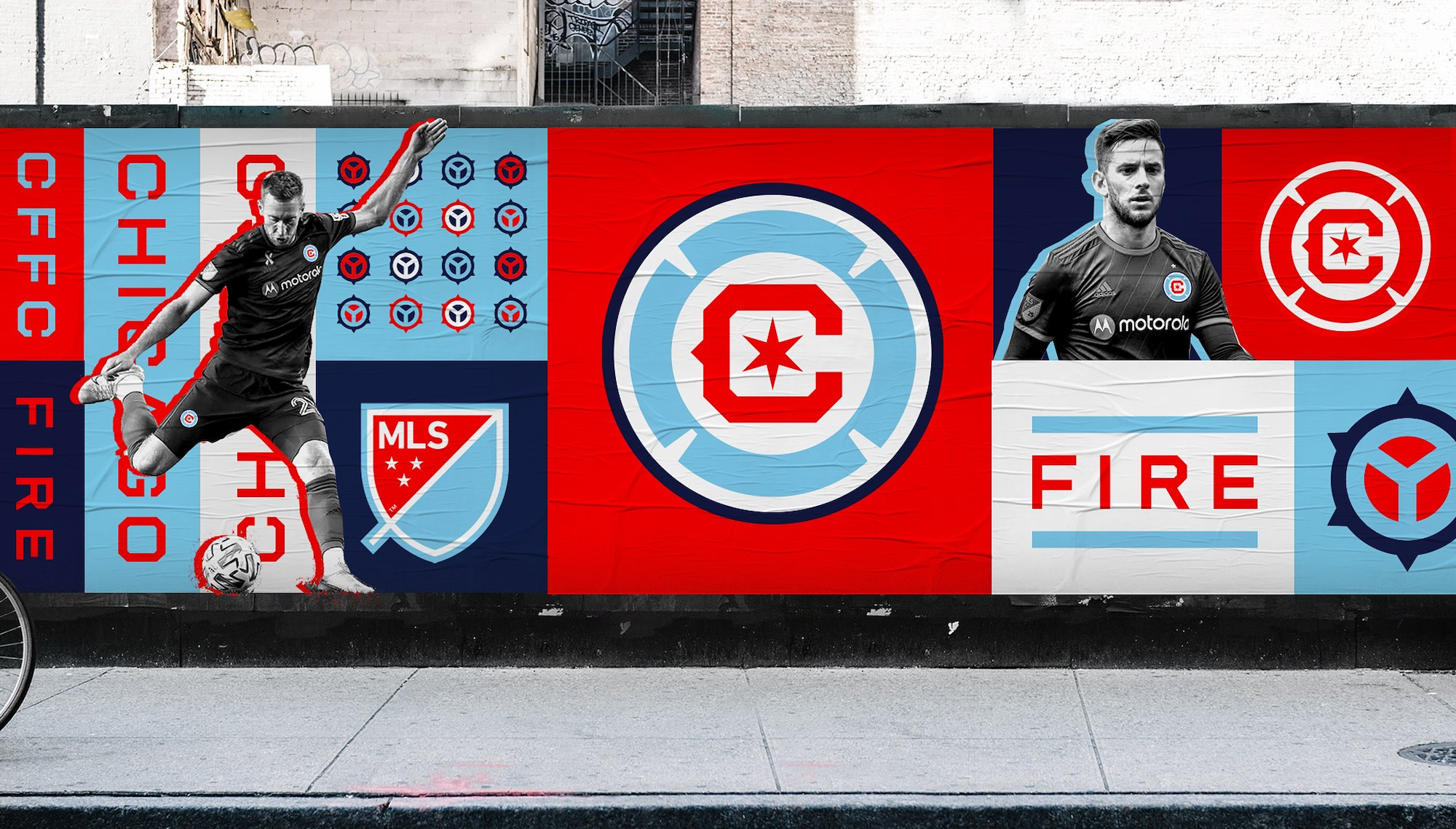 nowe logo chicago fire na plakatach