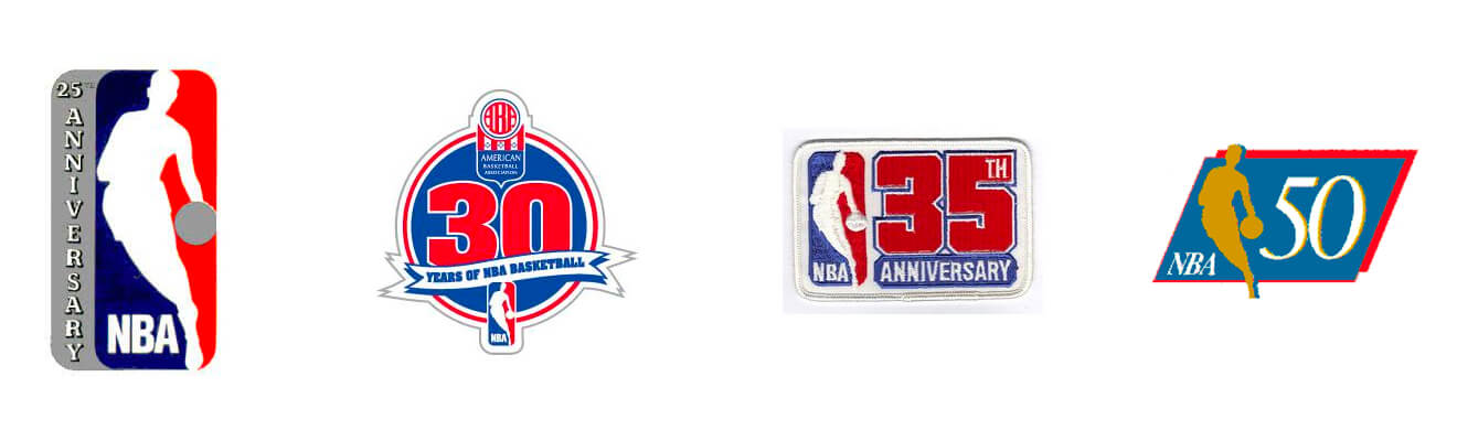 nba anniversary logos