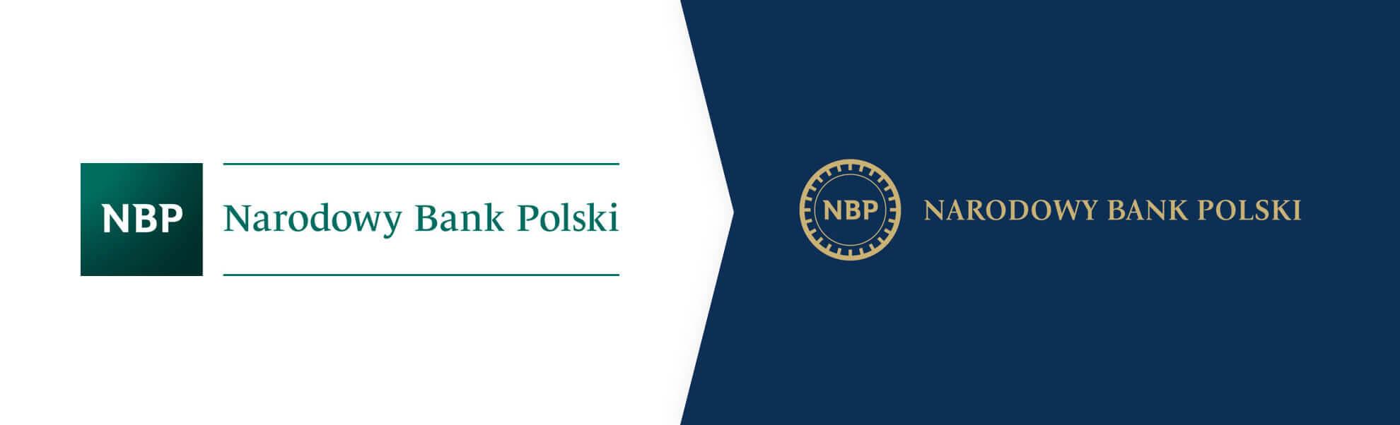 Stare i nowe logo NBP