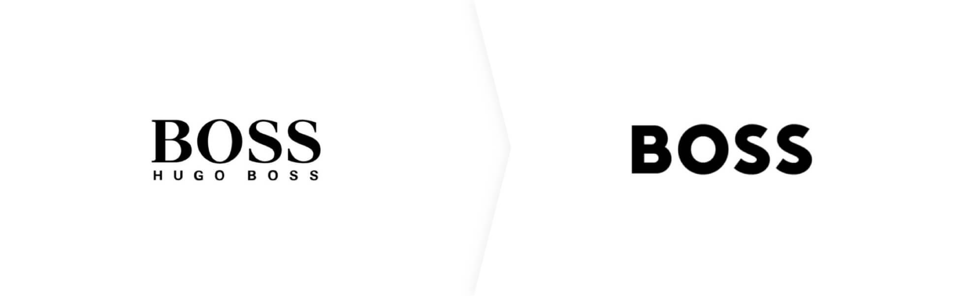 stare i nowe logo marki hugo boss