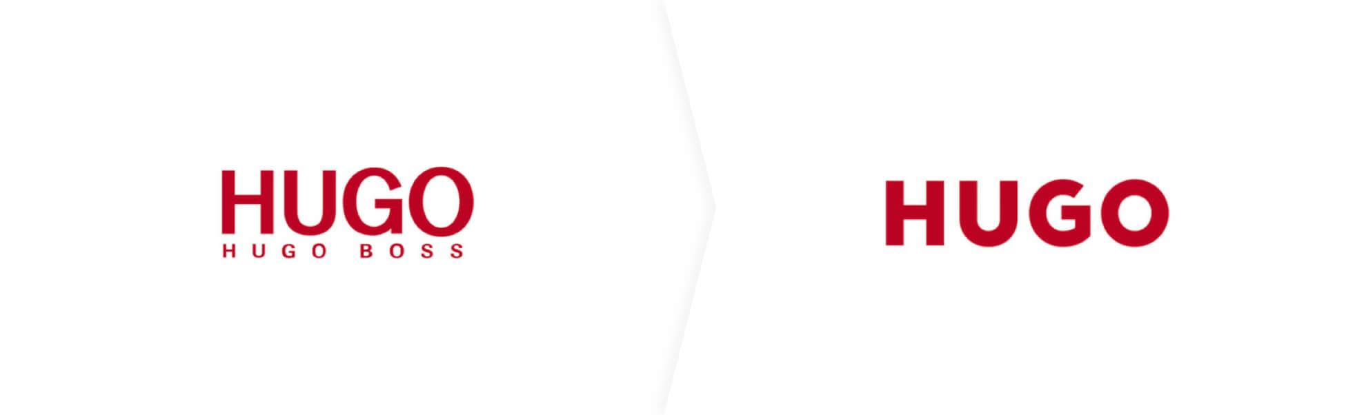 Stare i nowe logo marki Hugo