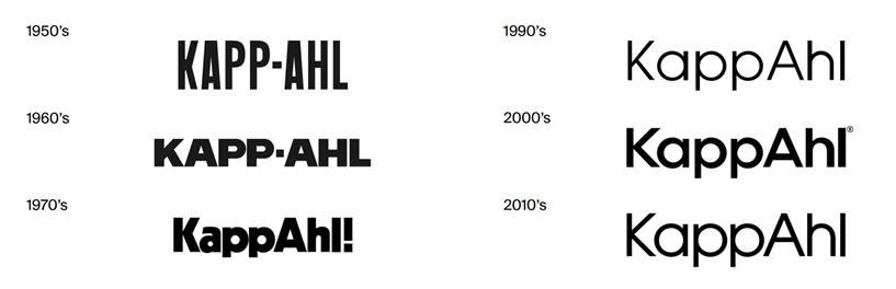 KappAhl - logo na przestrzeni lat