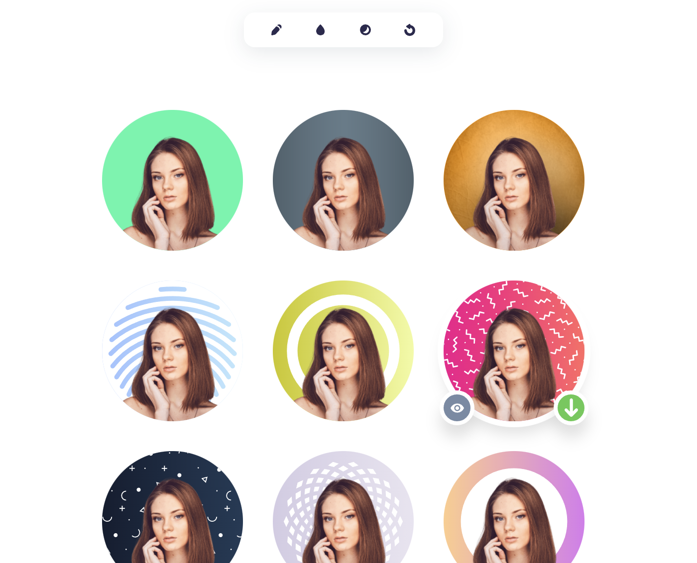 profile pic maker - zmień tło zdjęcia profilowego za darmo