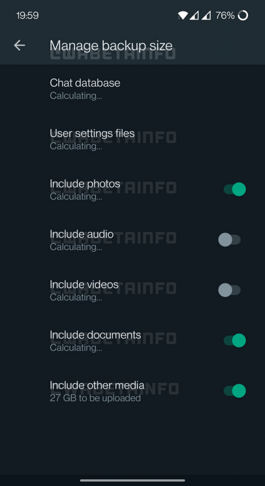 whatsapp zmiana wielkości backupu oszczędzanie miejsca