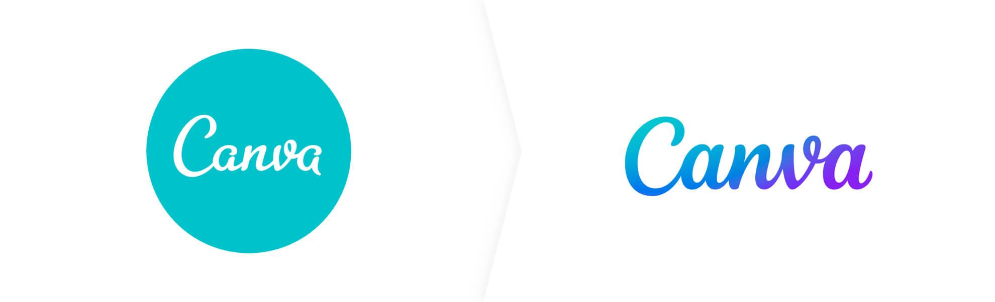 Stare i nowe logo Canva