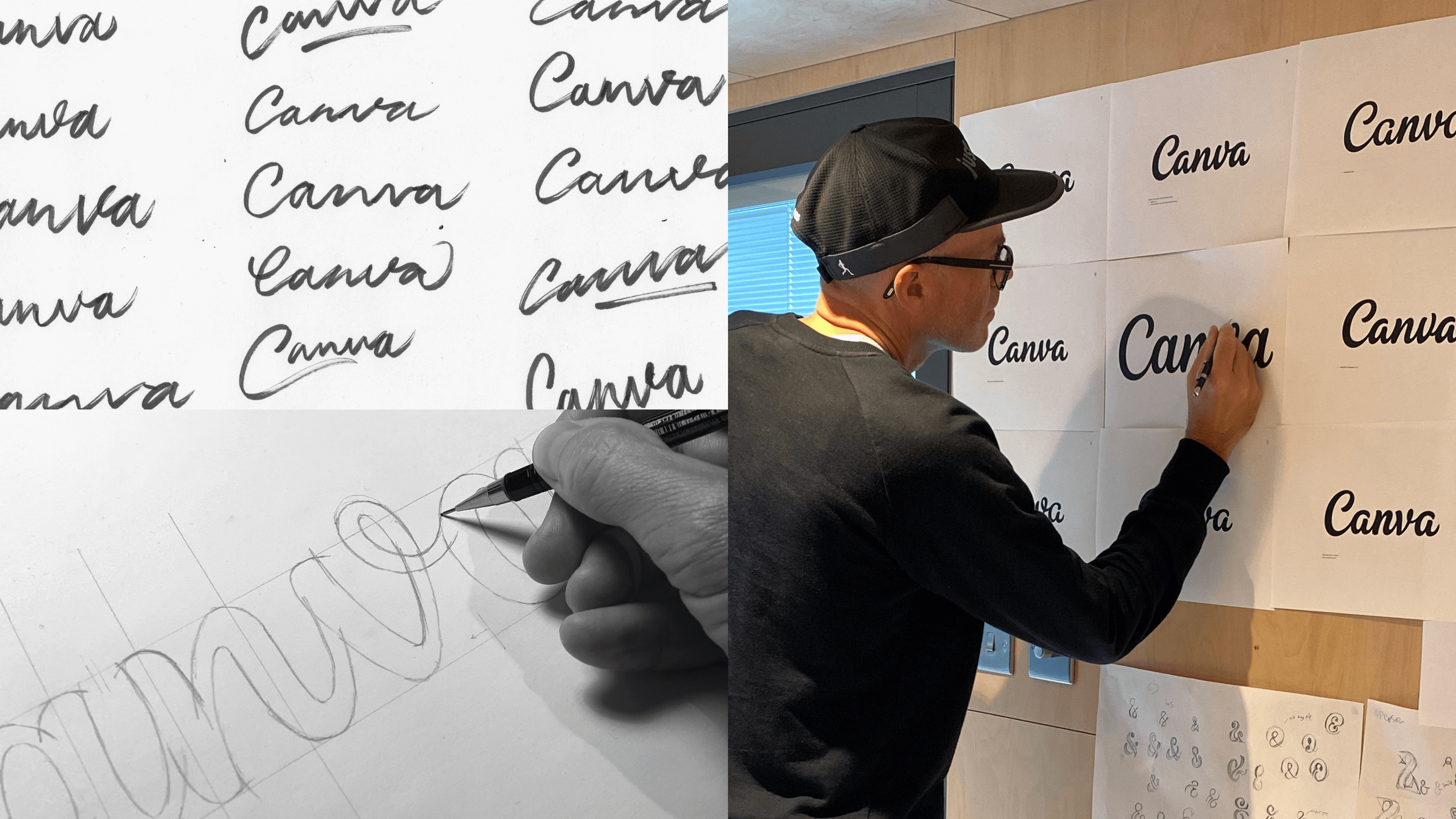 Rob Clarke przy pracy nad nowym logo Canvy